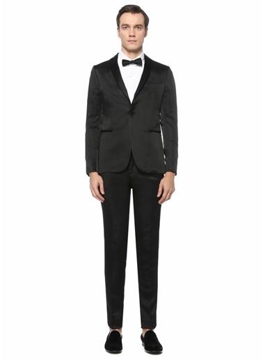 Cerimonia Pal Zileri Lab  Şal Yaka Puantiye Desenli Takım Elbise 101529514 Siyah
